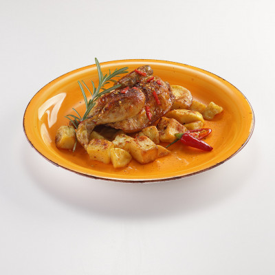Mezzo galletto alla diavola con patate